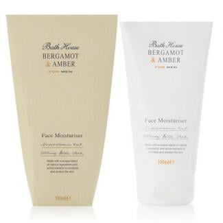 Bath house Face Moisturiser Bergamot & Amber 100ml